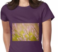 Soft focus of pink heather macro Womens Fitted T-Shirt