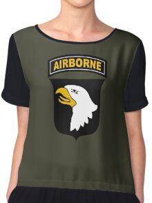 101st Airborne Chiffon Top