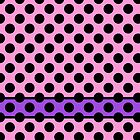 Pink with Black Dots and Purple Stripe by Greenbaby