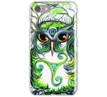 Emerald Owl by Sheridon Rayment iPhone Case/Skin