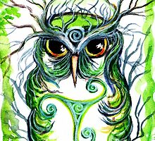 Emerald Owl by Sheridon Rayment by BlueMoonOwl