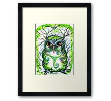 Emerald Owl by Sheridon Rayment Framed Print