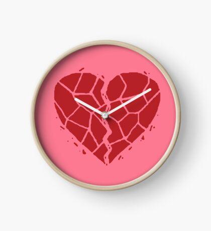 Broken heart Clock