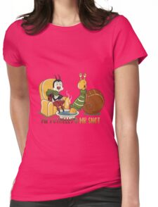 Winter recreation - series Mr. Potbelly and Mr. Snot Womens Fitted T-Shirt
