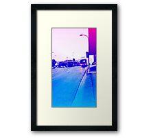 Rainy Pastel Brisbane City - Spring Hill Hotel with Bus Framed Print