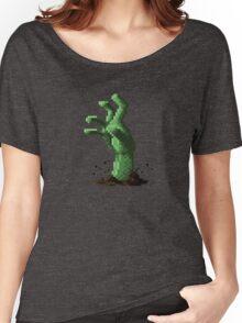 Zombie Grasp Pixels Women's Relaxed Fit T-Shirt