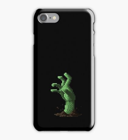 Zombie Grasp Pixels iPhone Case/Skin