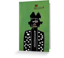 Portrait de Jean-Michel Basquiat Greeting Card