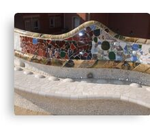 Park Güell Benches Canvas Print