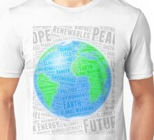 Global Warming Word Cloud - Design 2 Unisex T-Shirt