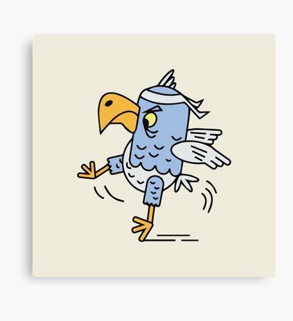 Karate fighting bird Canvas Print