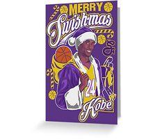 Kobe Bryant Merry Swishmas Tee Greeting Card