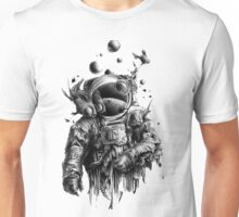 Undead astronaut floating in space Unisex T-Shirt
