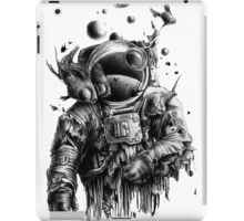 Undead astronaut floating in space iPad Case/Skin