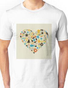 Beach heart Unisex T-Shirt