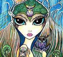 Owlete The Owl Queen, by Sheridon Rayment by BlueMoonOwl