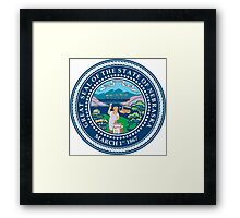 Nebraska seal Framed Print