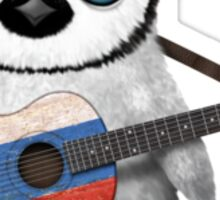 Baby Penguin Playing Slovenian Flag Guitar Sticker