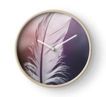 Feather in Pastel Tones Clock