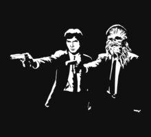 Star Wars Pulp Fiction - Han and Chewbacca by EBAYman