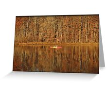 Casting Reflections Greeting Card