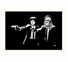Star Wars Pulp Fiction - Han and Chewbacca  Art Print