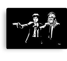 Star Wars Pulp Fiction - Han and Chewbacca  Canvas Print