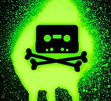 Cassette Tape and Bones by SamsShirts