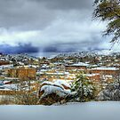 Overlooking Downtown Prescott Arizona by K D Graves Photography