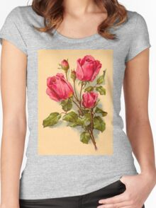 Delicate red roses - emotional life Women's Fitted Scoop T-Shirt