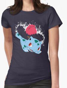 Ivysaur Splatter Womens Fitted T-Shirt