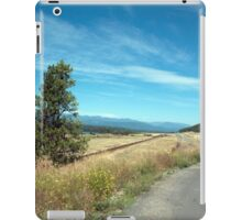 Road, sky, tree and wild grasses landscape photography iPad Case/Skin