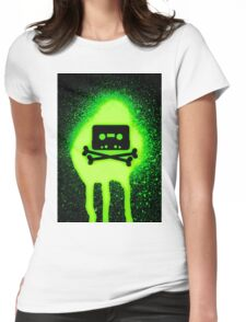 Cassette Tape and Bones Womens Fitted T-Shirt