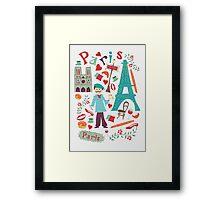 Cute symbols from Paris Framed Print