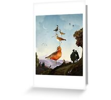 Spring Stacking of the Birds Greeting Card