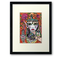 Gypsy Owl Oracle by Sheridon Rayment Framed Print