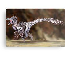 Velociraptor Reconstruction Metal Print