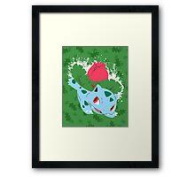 Ivysaur Splatter Framed Print