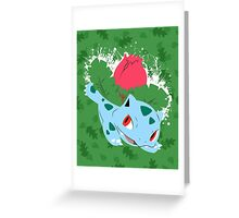 Ivysaur Splatter Greeting Card