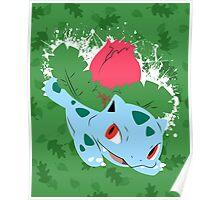 Ivysaur Splatter Poster