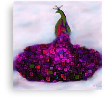 Peacock Fantasy Purple and Green Canvas Print