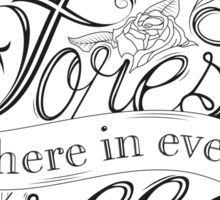 Typography - Inspirational Quote Sticker