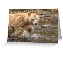 Spirit walks in water Greeting Card