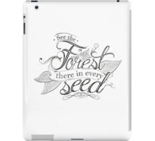 Typography - Inspirational Quote iPad Case/Skin