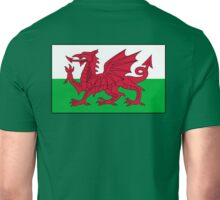 WALES, Welsh, Cymru, Welsh Flag, Pure & simple. Red Dragon of Wales Unisex T-Shirt