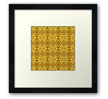 500. Golden Illusion Framed Print