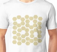 Bee hive flowers- neutral yellow color Unisex T-Shirt