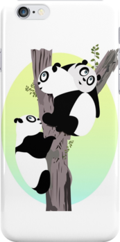 Pandas in a tree by Adamzworld