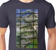 Dogwood Stained Glass Window Unisex T-Shirt