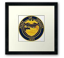 Oregon seal Framed Print